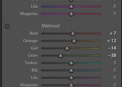 Färgjusteringar