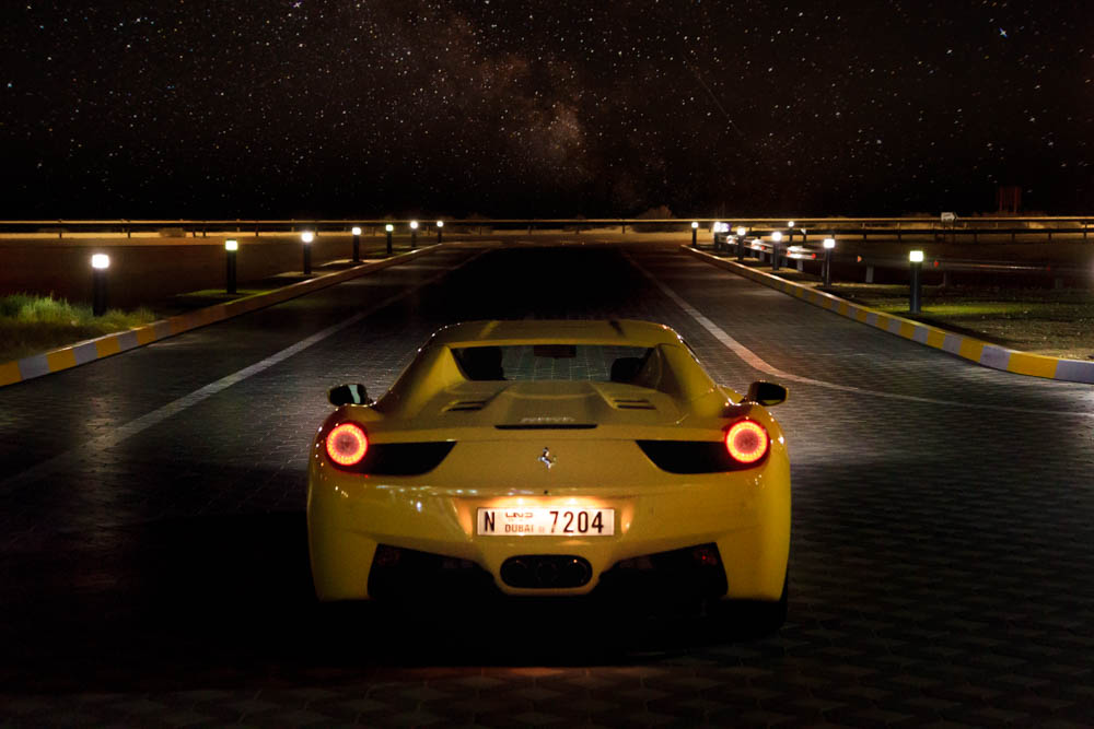 Bildredigering Lightroom/Photoshop – Ferrari i Dubai