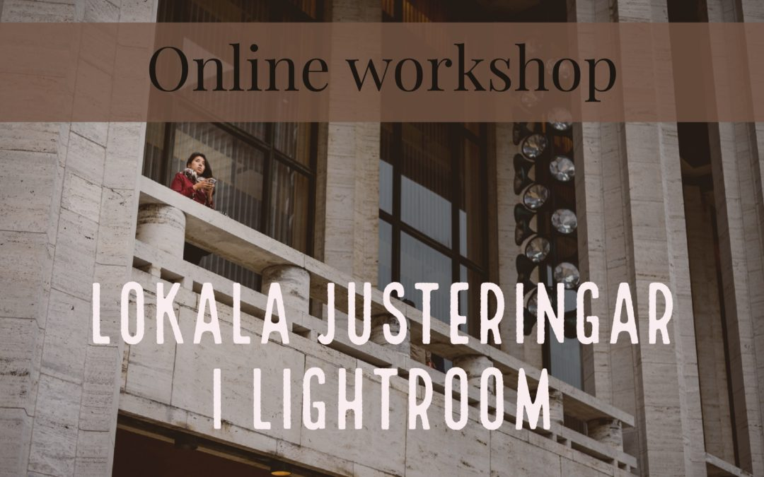 Lokala justeringar i Lightroom {online workshop 31 okt}