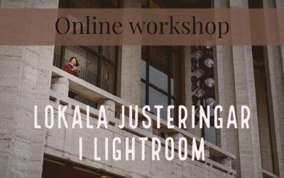 Lokala justeringar i Lightroom {online workshop 31 okt}
