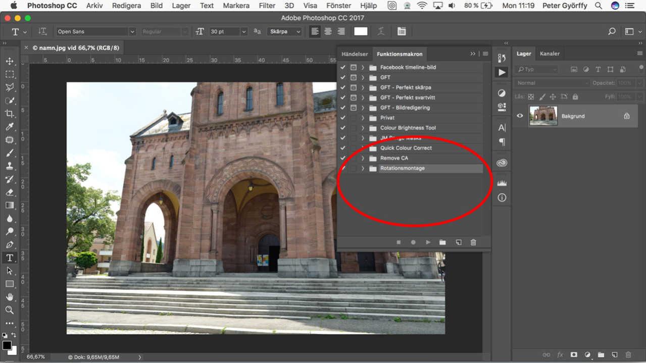 Hur du installerar funktionsmakro i Photoshop