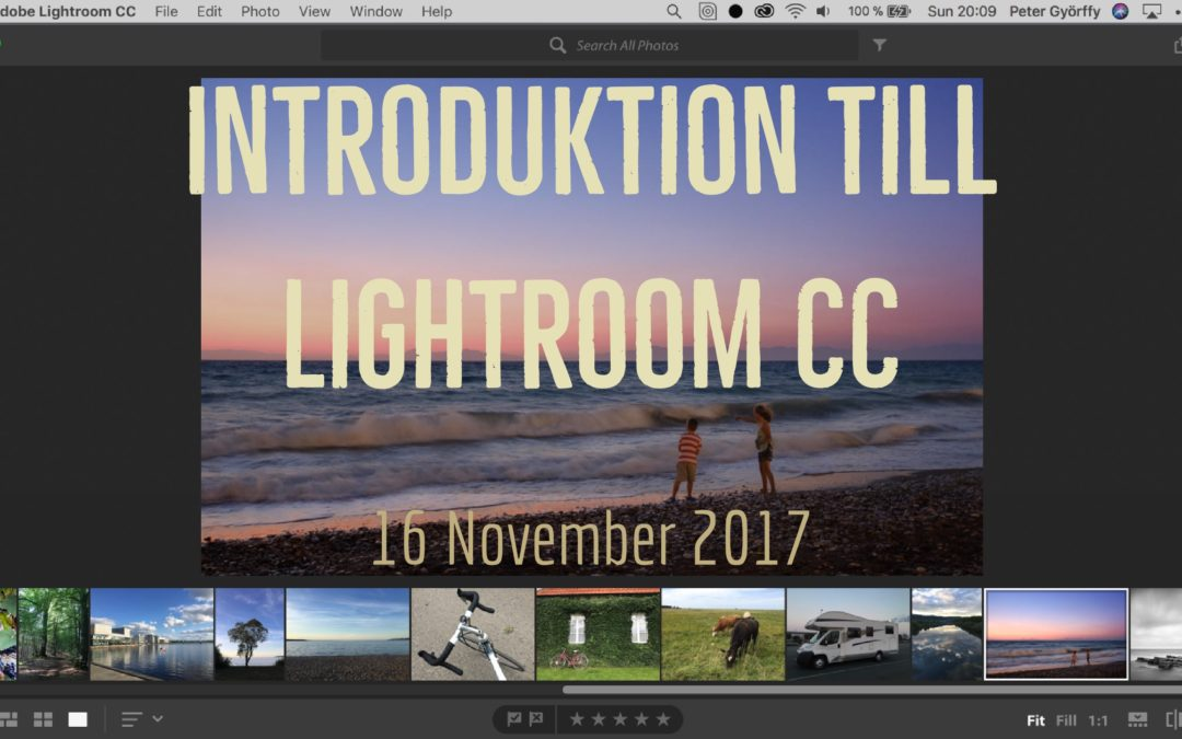 Webinar, Introduktion till Lightroom CC, 16 november