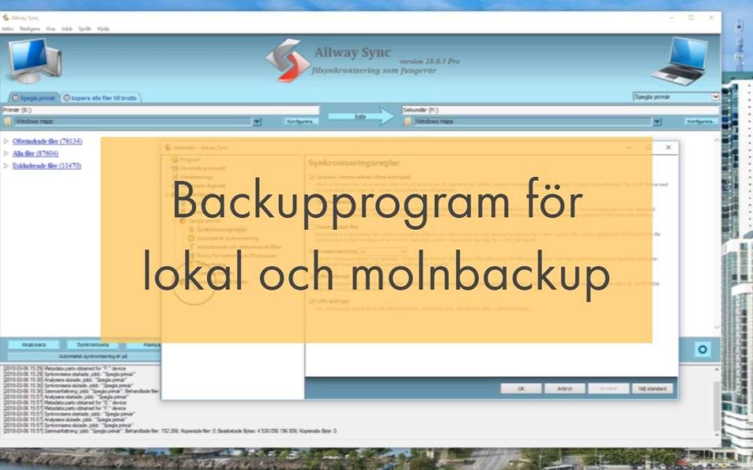 Backupprogram för lokal och molnbackup