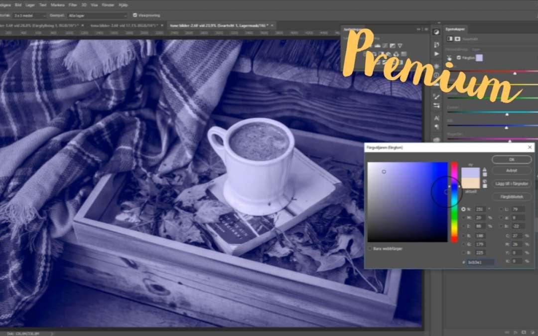 Tona bilder i Photoshop, tona svartvita bilder