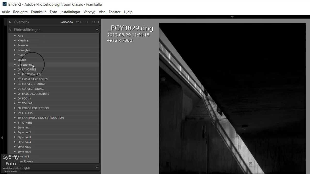 Hur du döljer Adobes förinställningar i Lightroom