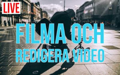 Introduktion till att filma och redigera video