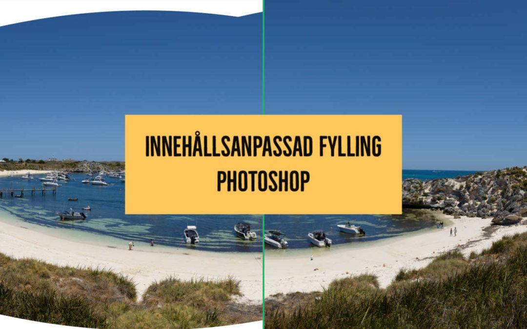 Innehållsanpassad fyllning i Photoshop