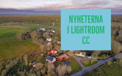Nyheterna i Lightroom CC feb 2019