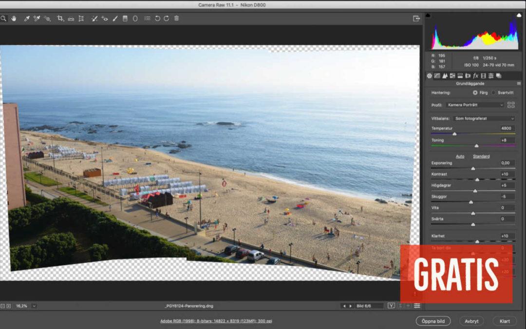 Redigera panorama i Photoshop, olika vägar in