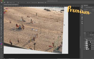 Färdigställ panoramat i Photoshop
